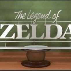Descargar STL gratis El logotipo de la Leyenda de Zelda - Clásico, AwesomeA