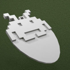 untitled.png Download free STL file Space Invader Guitar Pick • 3D printing template, AwesomeA