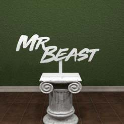 MrBeast-Logo1.jpg Download free STL file Mr. Beast Logo. • 3D printable model, AwesomeA