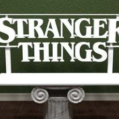 Download 3D print files Stranger Things Logo, AwesomeA