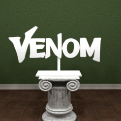 Download free 3D printing files Venom Logo, AwesomeA