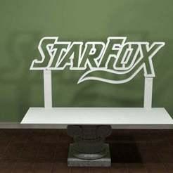 StarFox-Logo.jpg Télécharger fichier STL gratuit Logo de Star Fox • Modèle pour imprimante 3D, AwesomeA