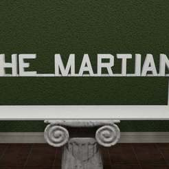 The-Martian-Logo.jpg Download free STL file The Martian Logo • 3D print template, AwesomeA