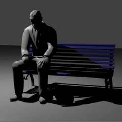 sad.jpg Télécharger fichier STL gratuit L'homme triste assis • Design à imprimer en 3D, AwesomeA