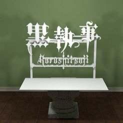 kuroshitsuji-logo.jpg Télécharger fichier STL gratuit Kuroshitsuji Logo • Design pour imprimante 3D, AwesomeA