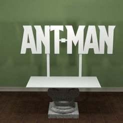AntMan-Logo.jpg Télécharger fichier STL gratuit Logo de la fourmi • Plan pour imprimante 3D, AwesomeA
