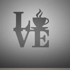 love-coffee.jpg Télécharger fichier STL Love Coffee - Signe • Modèle pour imprimante 3D, AwesomeA