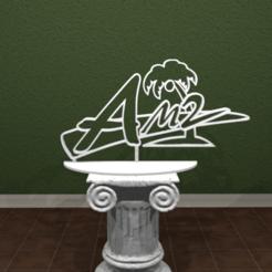 Descargar STL Logotipo de AM2!, AwesomeA