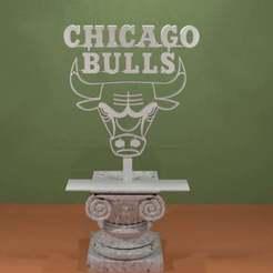 Descargar modelo 3D gratis Logotipo de los Chicago Bulls, AwesomeA