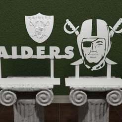 oakland-raiders.jpg Télécharger fichier STL gratuit Logo des Oakland Raiders. • Objet à imprimer en 3D, AwesomeA