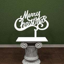 Download free 3D printer designs Merry Christmas - Sign, AwesomeA