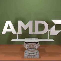 Descargar modelos 3D gratis Logotipo de AMD, AwesomeA