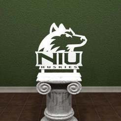 Download free STL file NIU Huskies Logo, AwesomeA