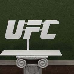 UFC-Logo.jpg Download free STL file UFC Logo • 3D print object, AwesomeA