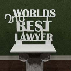WBL.jpg Download free STL file Worlds 2nd Best Lawyer - Better Call Saul • Design to 3D print, AwesomeA