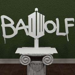 DW-Badwolf.jpg Download free STL file Doctor Who - Bad Wolf • 3D print design, AwesomeA