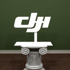 dji-logo.png Télécharger fichier STL gratuit Logo DJI • Plan pour impression 3D, AwesomeA