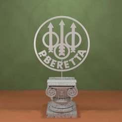 beretta-logo.jpg Download free STL file Beretta Logo • Model to 3D print, AwesomeA