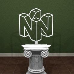 N64-Outlined-Logo.jpg Télécharger fichier STL Nintendo 64 Outlined Sign ! • Objet à imprimer en 3D, AwesomeA