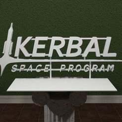kerbalspaceprogram.jpg Download free STL file Kerbal Space Program Logo • 3D print template, AwesomeA