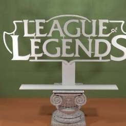 Download free 3D printer designs League of Legends Logo, AwesomeA