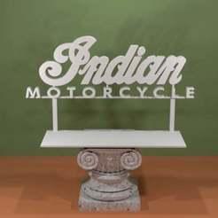 Descargar diseños 3D gratis Logotipo de motocicleta india, AwesomeA
