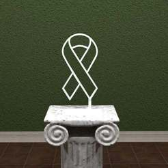 awareness.jpg Télécharger fichier STL gratuit Ruban de sensibilisation • Modèle pour imprimante 3D, AwesomeA