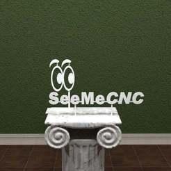 Download free 3D printer model SeeMeCNC Logo, AwesomeA