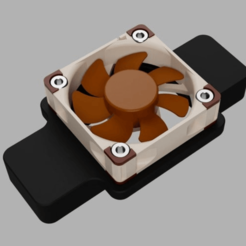 cooling_top.png Download free STL file Fluval Flex Aquarium Cooling Fan 40mm • Model to 3D print, uepsie