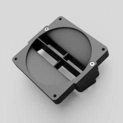Download free STL file Fluval Flex Aquarium Cooler / Cooling Fan 80mm, uepsie