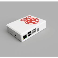 Case.png Download free STL file Raspberry Pi 3 Case with Homematic RPI-RF-MOD • 3D printer design, uepsie