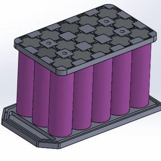 Télécharger plan imprimante 3D gatuit Batterie 3x5 18650, Borja16498