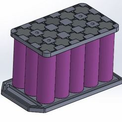 Download free STL file Battery 3x5 18650 • Object to 3D print, Borja16498