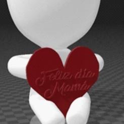 robert feliz dia mamá.jpg Télécharger fichier STL Fête des mères de Robert • Modèle pour imprimante 3D, javier00116