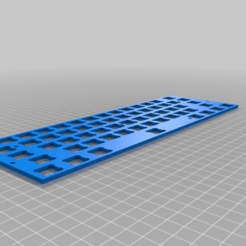Download free 3D printer designs Parametric Cherry MX Mounting Plate for Mechanical Keyboards, rsheldiii