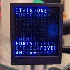 20200622_014640.jpg Download free STL file Tiny Word Clock Case • 3D print model, rsheldiii