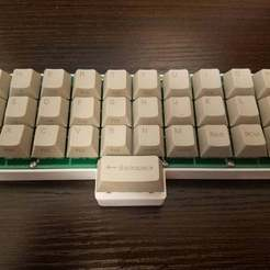 20180408_173338.jpg Download free SCAD file Gherkin (Ortholinear Keyboard) Spacebar Sandwich Case • 3D printing design, rsheldiii