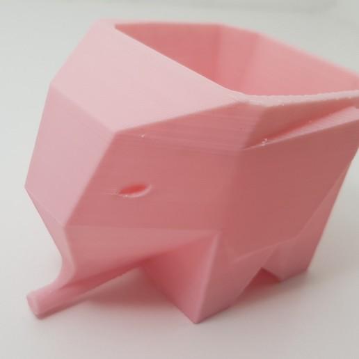 Download free STL file Elephant pot low poly • 3D printing model, pablolet