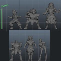 warriors foto.jpg Download STL file Dragon Warriors • 3D printing template, 3DBartertown
