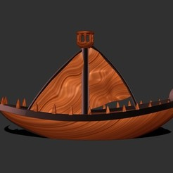 Download free 3D print files War Boat, KYE3D