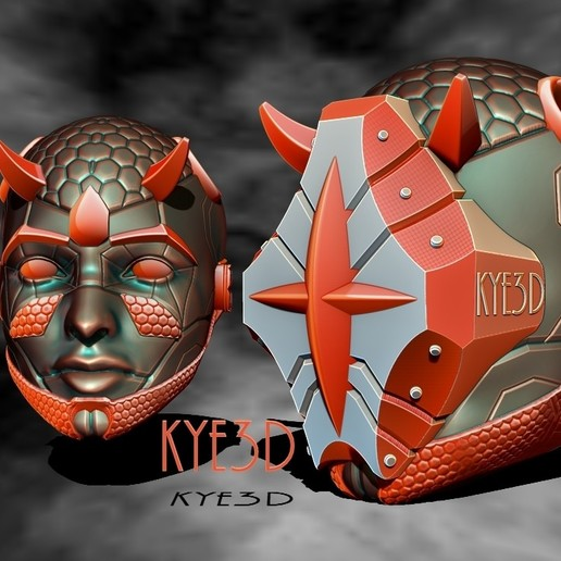 Carbon rend 2.jpg Download free STL file Onyx VR Pendant  • 3D printable design, KYE3D