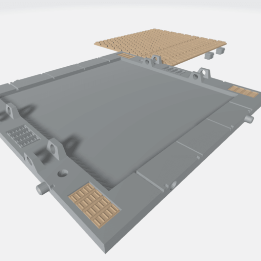 MHB02-B- Mecha Hangar Bay 02 Base1.png Download free OBJ file Mecha Hangar Bay Base -MHB02 B-only • 3D printable template, ilovegmrgm79
