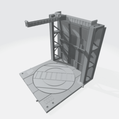 Download 3D printer designs Mecha Hangar Bay Fixture Base and Wall SET 01 -MHB01F-, ilovegmrgm79