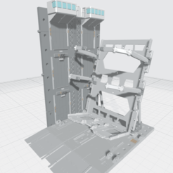 Final MHB04C- Mecha Hangar Bay 04 Customizable-1.png Download OBJ file -MHB04C- Mecha Hangar Bay 04 Hangar customizable with expansion 3D print Files • 3D print template, ilovegmrgm79