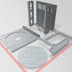 Download OBJ file -MHB01C- Mecha Hangar Bay Customizable Base and Wall 01 3D print files • 3D printing template, ilovegmrgm79