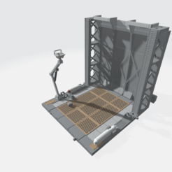 MHB02F- Mecha Hangar Bay 02 Fixture.png Download OBJ file -MHB02F- Mecha Hangar Bay Base and Wall 02 Fixture 3D print Files • 3D printing model, ilovegmrgm79