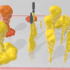 Action Figure explosion flame Effect part3-w-missle5.png Download OBJ file -AFEF03- Action Figure explosion flame effect 03 with missile smoke 3D print Files • 3D printable template, ilovegmrgm79