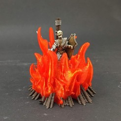 bas-painted2.jpg Download free STL file Burned at the Stake! for 28mm miniatures gaming • 3D print template, Brease