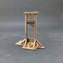 IMG_1189m.jpg Download free STL file Guillotine for 28mm miniatures gaming • 3D printing design, Brease