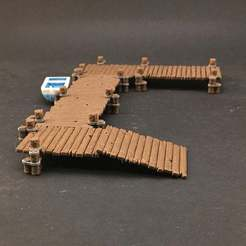 IMG_1193.jpg Download free STL file Boat Dock system for 28mm miniatures gaming • 3D printer template, Brease